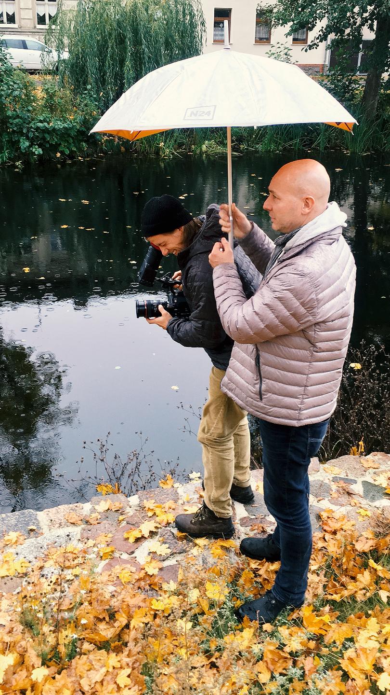 Dreharbeiten in Brandenburg